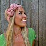 Pale Pink Bow Headband with..